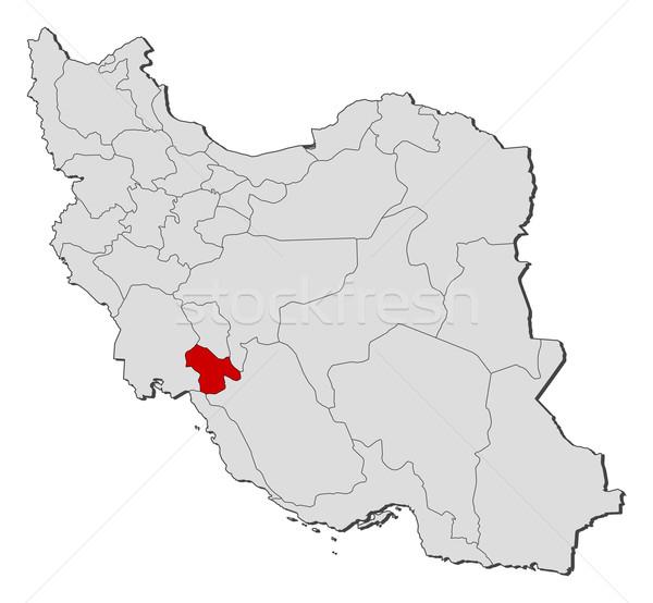 Map of Iran, Kohgiluyeh and Boyer-Ahmad highlighted Stock photo © Schwabenblitz