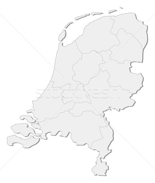 Mapa Holanda político vários abstrato terra Foto stock © Schwabenblitz