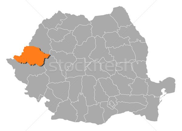 Harita Romanya siyasi birkaç soyut arka plan Stok fotoğraf © Schwabenblitz
