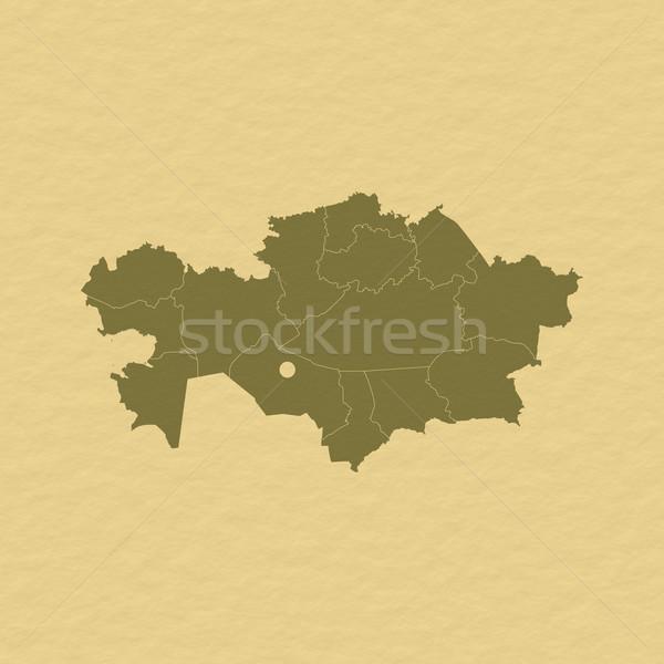 Stock photo: Map of Kazakhstan