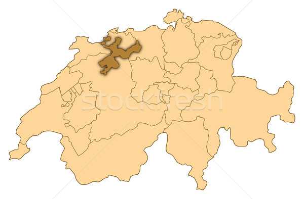 Harita İsviçre soyut arka plan iletişim siyah Stok fotoğraf © Schwabenblitz