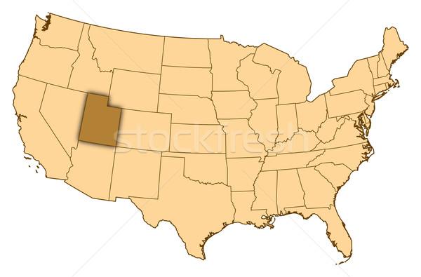 Stok fotoğraf: Harita · Amerika · Birleşik · Devletleri · Utah · soyut · arka · plan · iletişim
