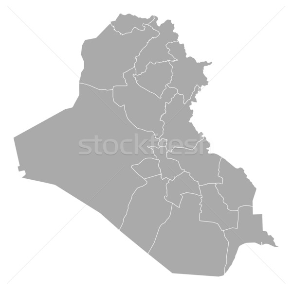 Map of Iraq Stock photo © Schwabenblitz