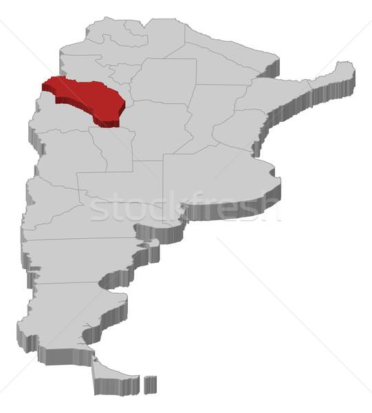 Térkép Argentína LA politikai néhány absztrakt Stock fotó © Schwabenblitz