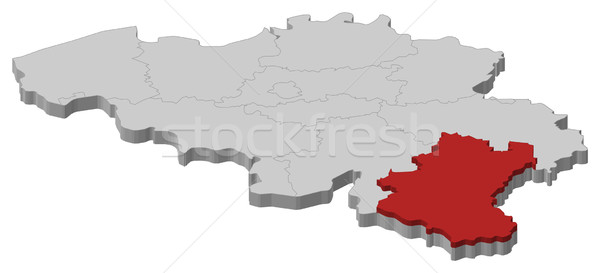 Map of Belgium, Luxembourg highlighted Stock photo © Schwabenblitz