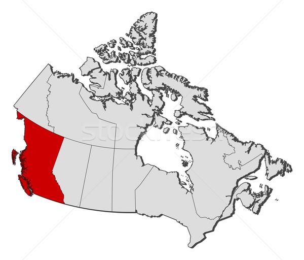 Harita Kanada İngilizler dünya soyut sanat Stok fotoğraf © Schwabenblitz