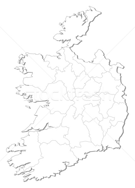 Map - Ireland Stock photo © Schwabenblitz