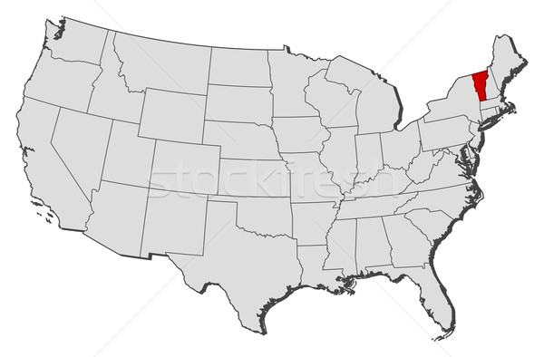 Map of the United States, Vermont highlighted Stock photo © Schwabenblitz