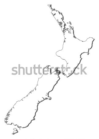 Map of New Zealand Stock photo © Schwabenblitz