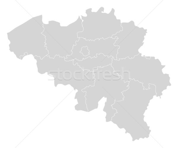 地図 ベルギー 政治的 いくつかの 抽象的な 世界 ストックフォト © Schwabenblitz