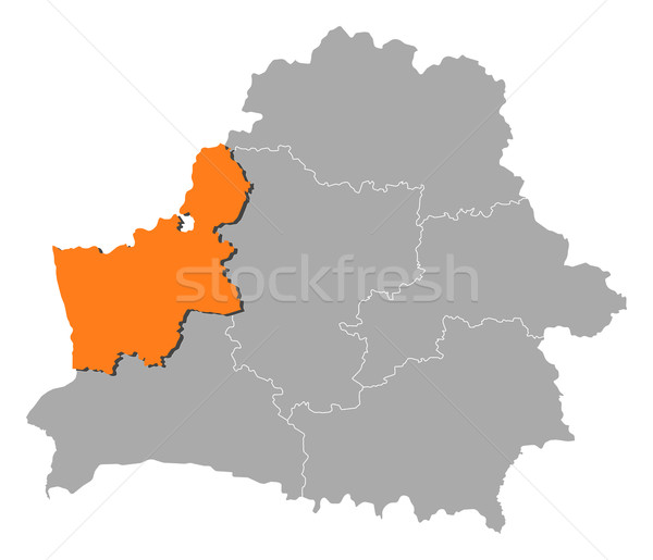 Map of Belarus, Grodno highlighted Stock photo © Schwabenblitz