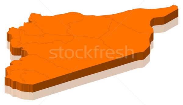 Kaart Syrië politiek verscheidene abstract wereld Stockfoto © Schwabenblitz