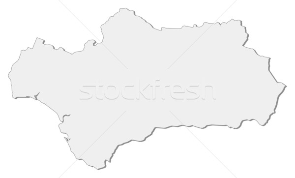Map of Andalusia (Spain) Stock photo © Schwabenblitz