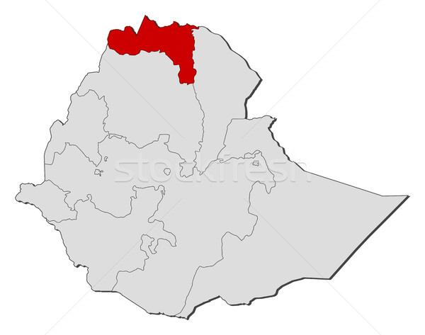 Map - Ethiopia, Tigray Stock photo © Schwabenblitz