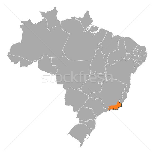 Térkép Brazília Rio de Janeiro politikai néhány földgömb Stock fotó © Schwabenblitz