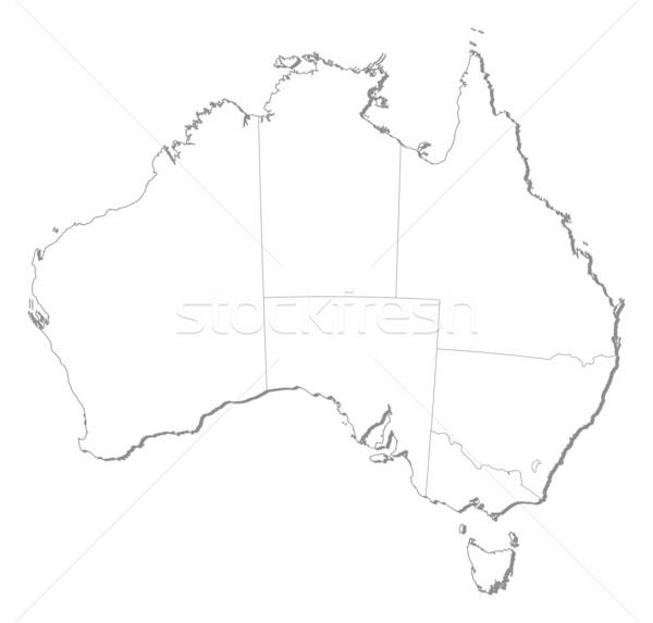 Mapa Austrália político vários abstrato arte Foto stock © Schwabenblitz