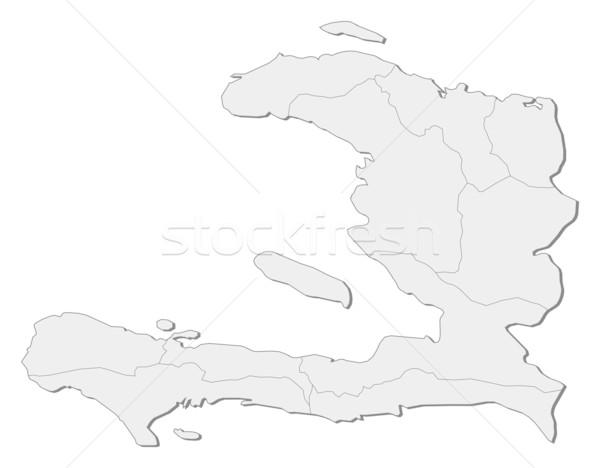 Mappa Haiti politico parecchi abstract arte Foto d'archivio © Schwabenblitz