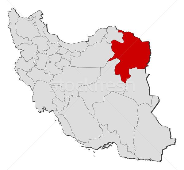 地図 イラン 政治的 いくつかの 抽象的な 地球 ストックフォト © Schwabenblitz
