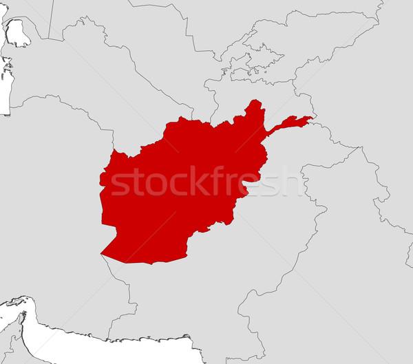 карта Афганистан политический несколько аннотация Мир Сток-фото © Schwabenblitz
