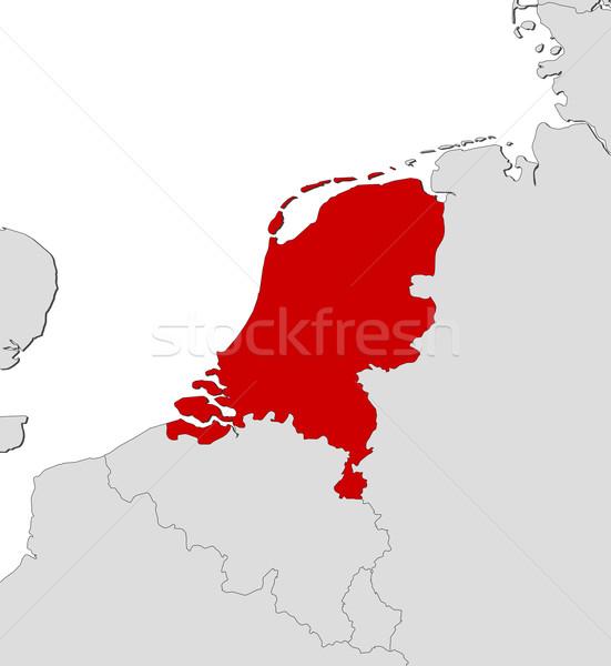 Niederlande Karte Welt.Karte Niederlande Politischen Mehrere Abstrakten
