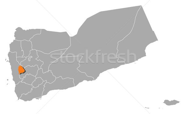 地図 イエメン 政治的 いくつかの 抽象的な 背景 ストックフォト © Schwabenblitz