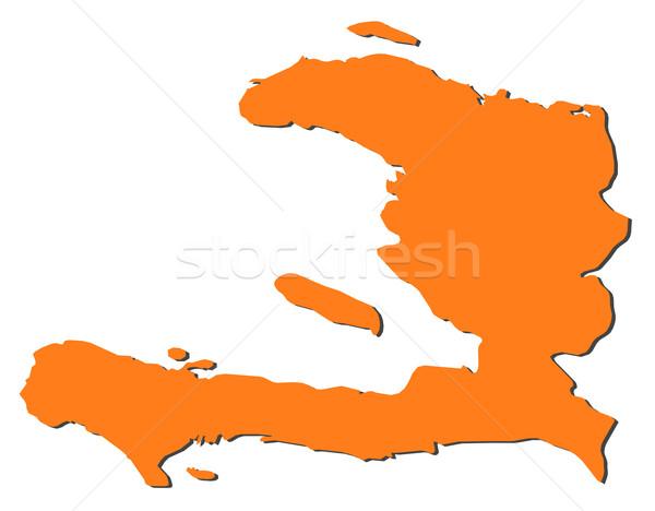 Mapa Haiti político vários abstrato mundo Foto stock © Schwabenblitz