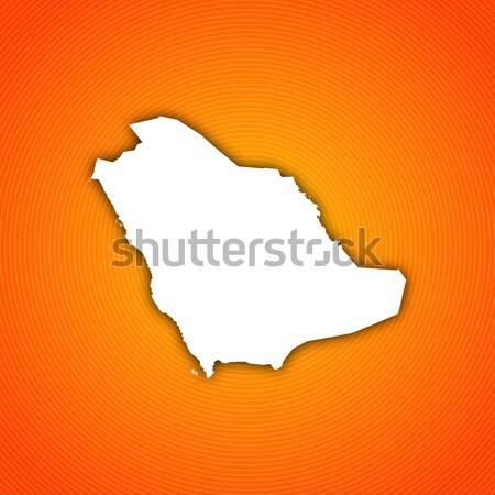 Foto stock: Mapa · Arábia · Saudita · político · vários · abstrato · mundo