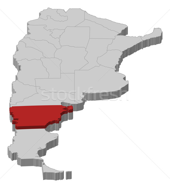 Map of Argentina, Chubut highlighted Stock photo © Schwabenblitz