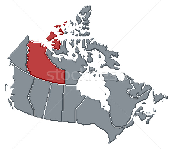 Map of Canada, Northwest Territories highlighted Stock photo © Schwabenblitz