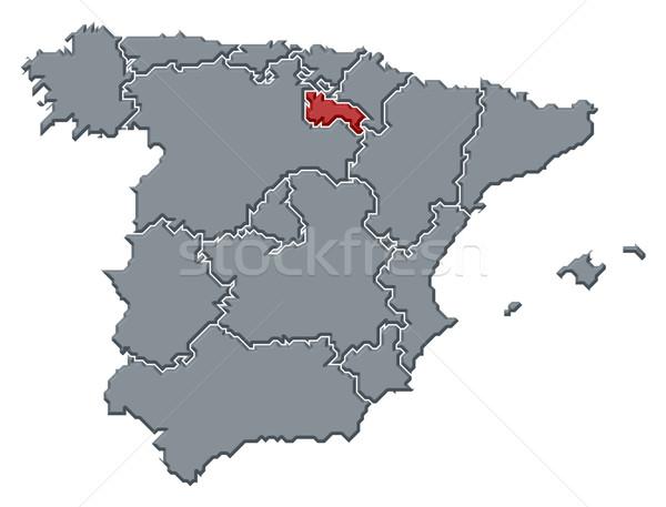 Map of Spain, La Rioja highlighted Stock photo © Schwabenblitz