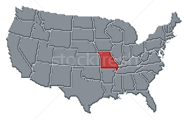 Mapa Estados Unidos Missouri político vários abstrato Foto stock © Schwabenblitz