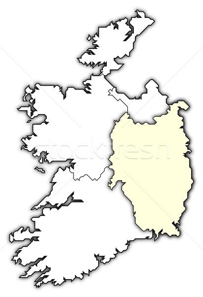 Map of Ireland, Leinster highlighted Stock photo © Schwabenblitz