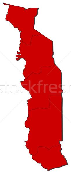 Mappa Togo colorato rosso abstract mondo Foto d'archivio © Schwabenblitz
