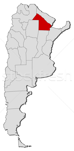 Map of Argentina, Chaco highlighted Stock photo © Schwabenblitz