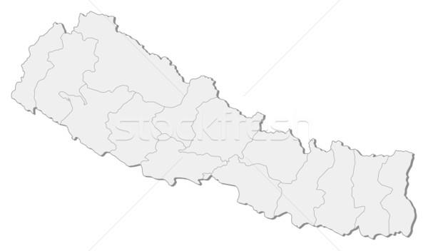 Map of Nepal Stock photo © Schwabenblitz