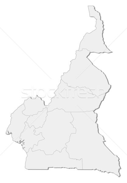 Pokaż Kamerun polityczny kilka regiony streszczenie Zdjęcia stock © Schwabenblitz