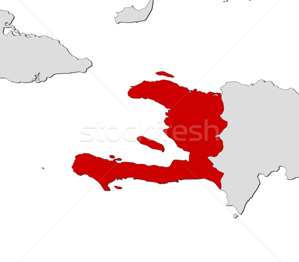 Map of Haiti Stock photo © Schwabenblitz