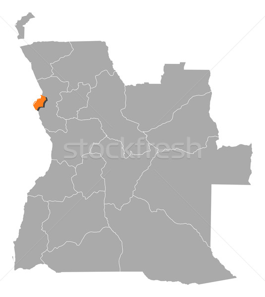 Map of Angola, Luanda highlighted Stock photo © Schwabenblitz
