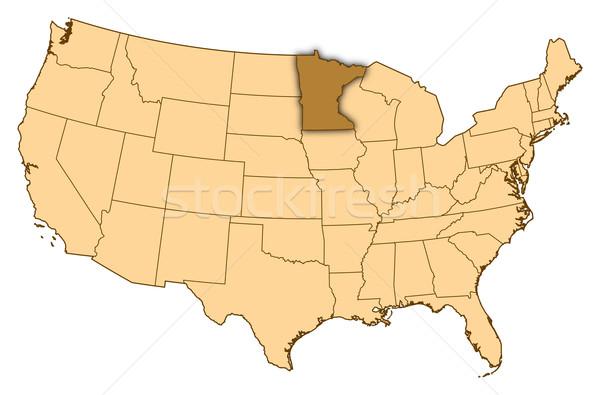 карта Соединенные Штаты Миннесота аннотация фон связи Сток-фото © Schwabenblitz
