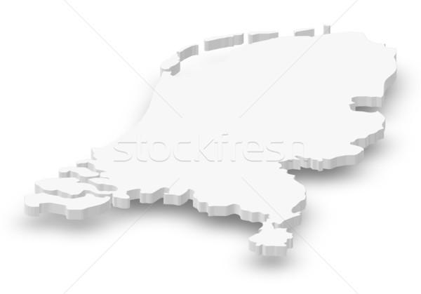 ストックフォト: 地図 · オランダ · 政治的 · いくつかの · 抽象的な · 世界