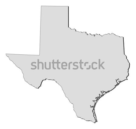 Kaart Texas Verenigde Staten abstract achtergrond communicatie Stockfoto © Schwabenblitz