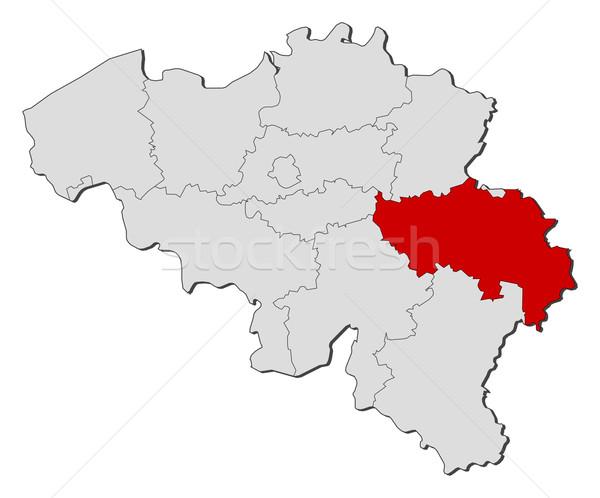 Stock photo: Map of Belgium, Li