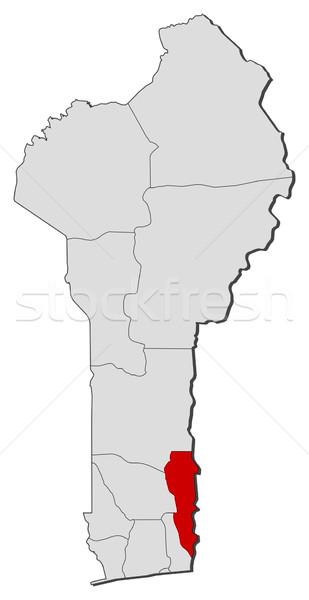 Mapa Benin planalto político vários globo Foto stock © Schwabenblitz