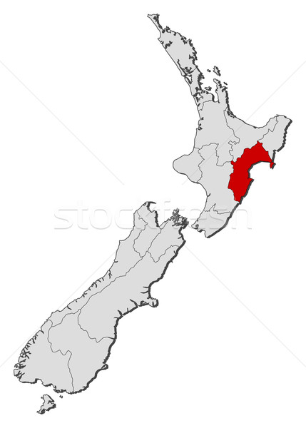 Map of New Zealand, Taranaki highlighted Stock photo © Schwabenblitz