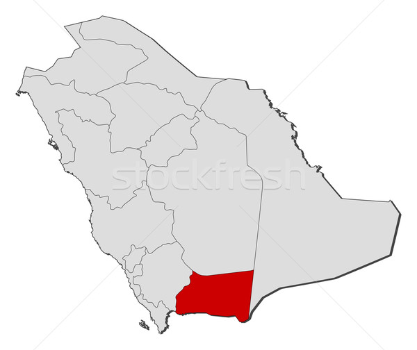 Map of Saudi Arabia, Najran highlighted Stock photo © Schwabenblitz