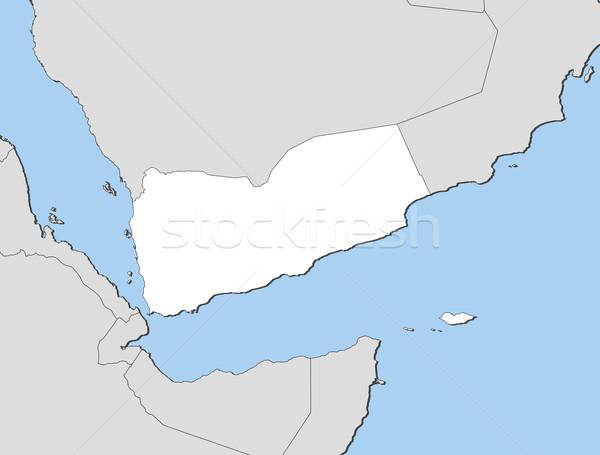 карта Йемен политический несколько аннотация Мир Сток-фото © Schwabenblitz