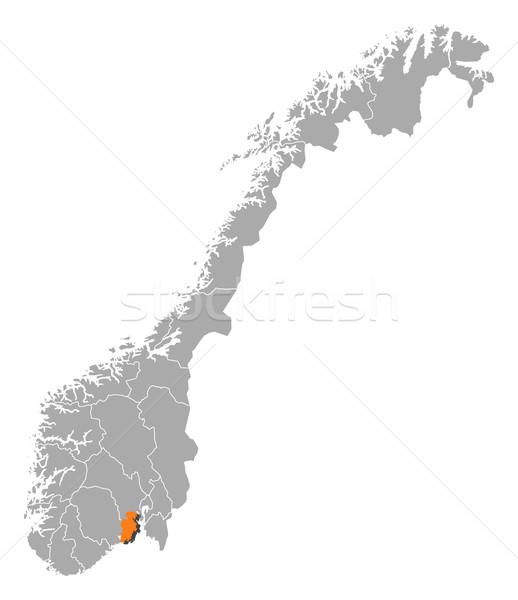 Map of Norway, Vestfold highlighted Stock photo © Schwabenblitz