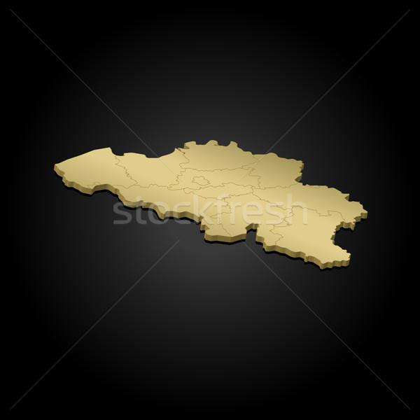 Harita Belçika siyasi birkaç soyut dünya Stok fotoğraf © Schwabenblitz