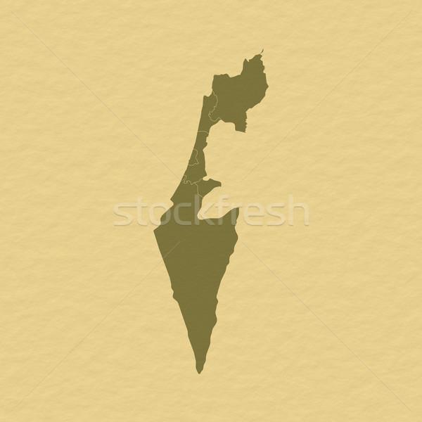 Harita İsrail siyasi birkaç soyut dünya Stok fotoğraf © Schwabenblitz