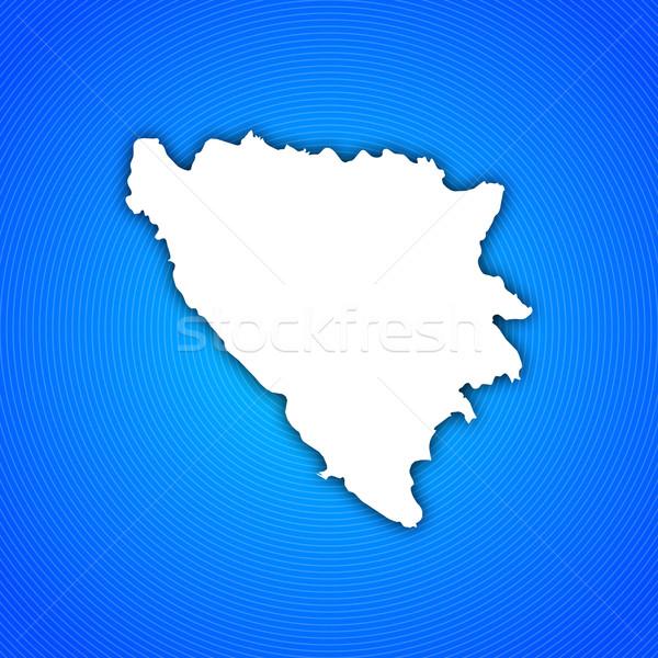 Stockfoto: Kaart · Bosnië-Herzegovina · politiek · verscheidene · abstract · wereld